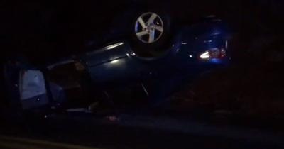 Rollover crash leads to early morning extrication in Liberty Lake