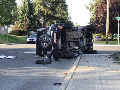 Rollover crash Maple Queen 8-13-19