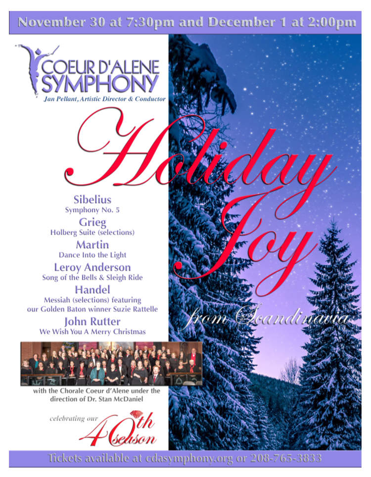 Coeur D Alene Christmas 2020 Concerts Coeur d'Alene Symphony Orchestra Holiday Joy Concert | Holiday