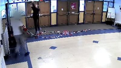VIDEO: Seattle boy acting out seen slammed by middle school guard