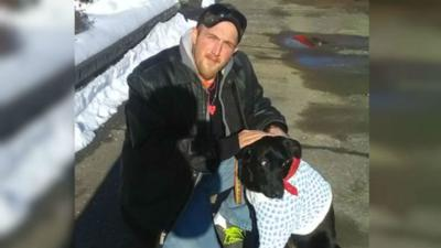Man punches and kicks 150-pound bear who attacked his puppy