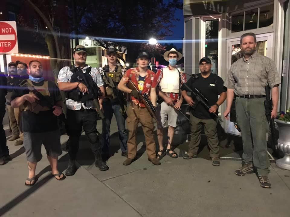 Armed Idahoans at BLM protest CdA