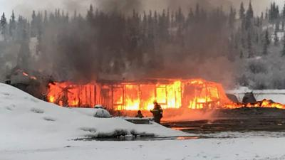 Spokane man held after suspicious fire at Alaska lodge