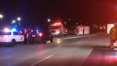 Man faces DUI, hit and run charges for crash that flipped semi in Spokane Valley