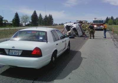 First on KHQ Com: Rollover Accident on Hwy  395 at Hatch Rd  | News