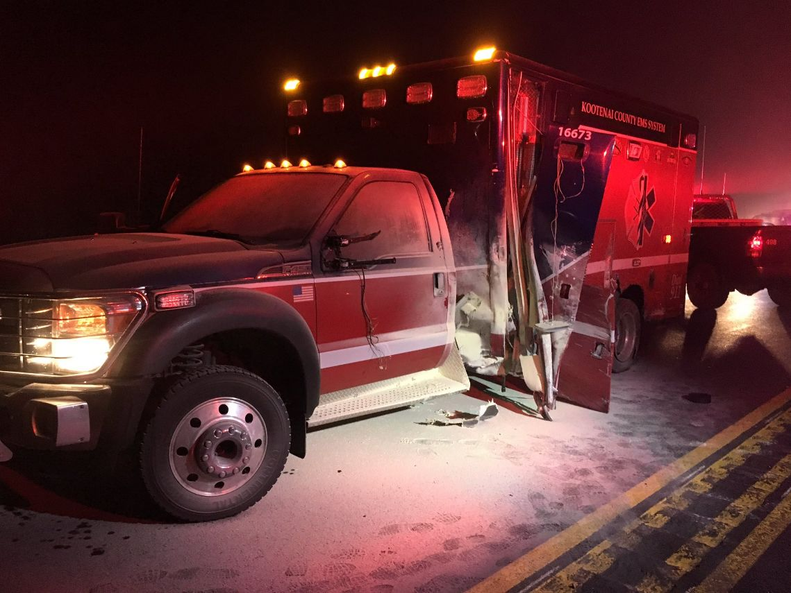 Idaho State Police arrest drunk driver who crashed into an ambulance south of CdA
