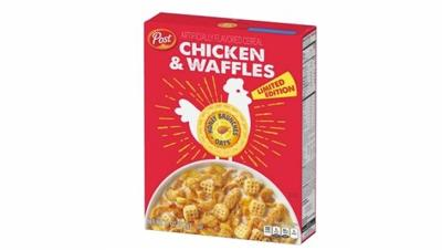 "Honey Bunches of Oats launches new ""Chicken and Waffles"" cereal, available only at Walmart"