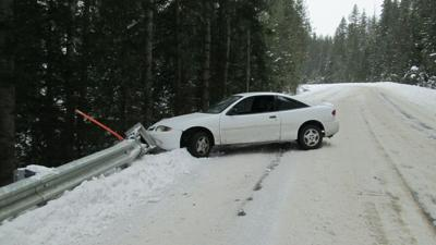 Driver taken to hospital after losing control on compact snow and ice in Clearwater County
