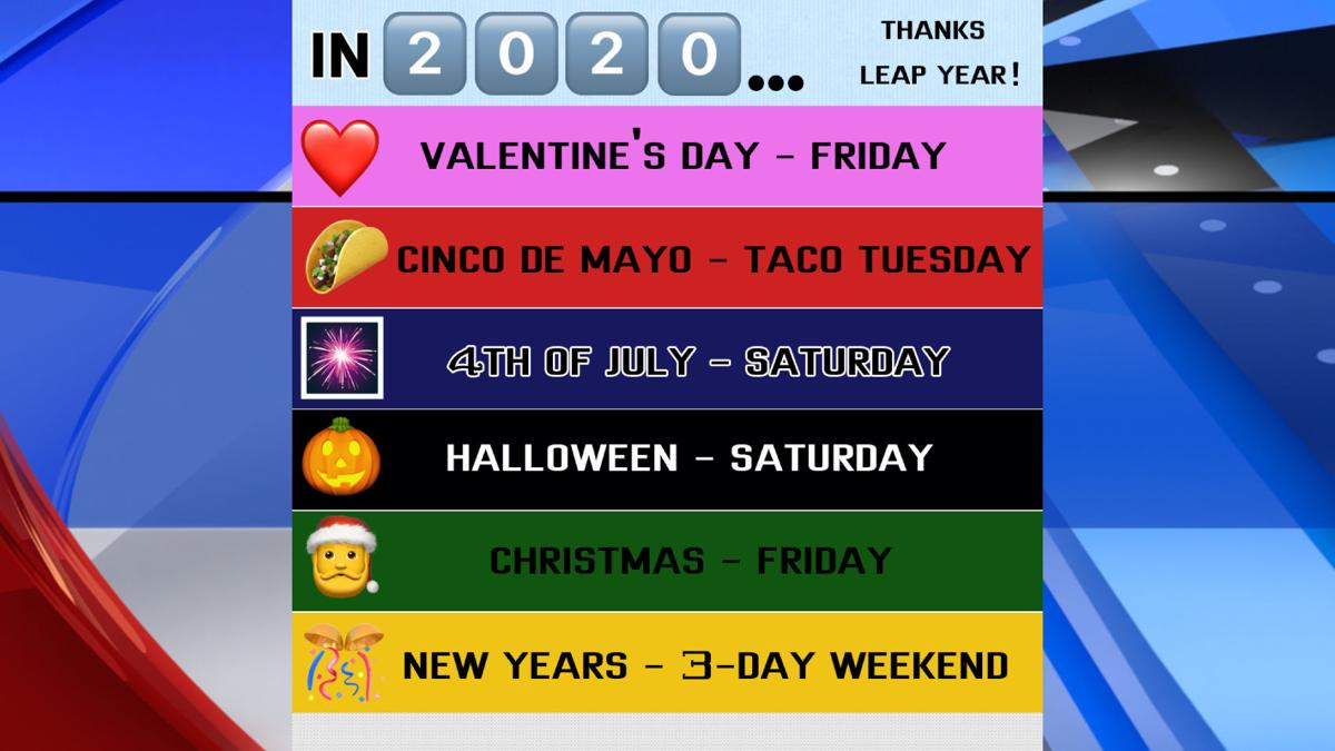 LEAP YEAR 2020 HOLIDAY LINEUP