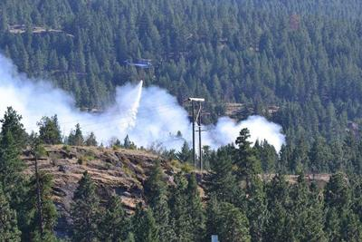 Brush Fire Near Post Falls Dam