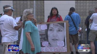 Group protests outside Spokane fundraiser for Cathy McMorris Rodgers