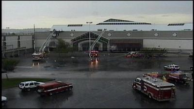Fire at Spokane Valley Mall