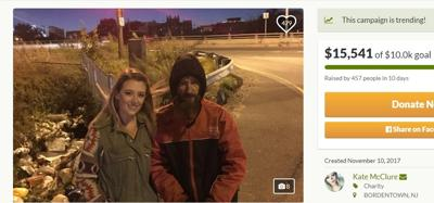 Woman raises more than $13K for charitable homeless man