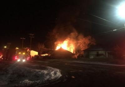 Garage of home still without power erupts in flames