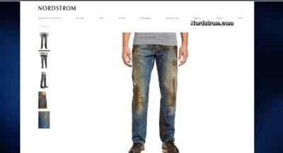 Nordstrom feels social media sting over $425 muddy jeans