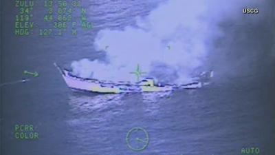 CA Boat Fire footage