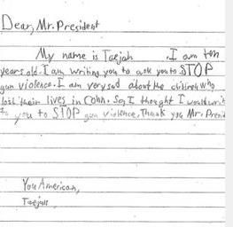 sample student letters to the president