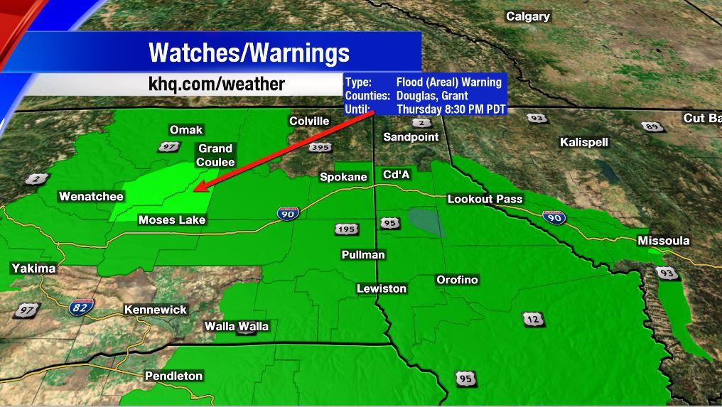 Flood Warnings In Effect Until Thursday Evening