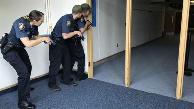 Spokane authorities participate in active shooter drill at North Pines Middle School