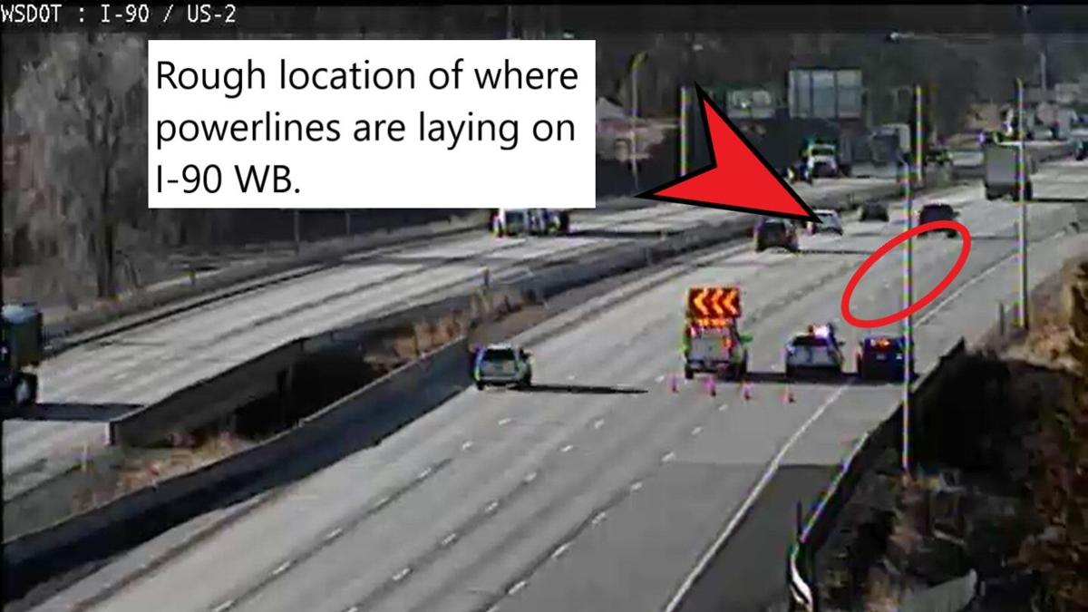 2 right lanes of westbound I-90 closed near US 2 interchange