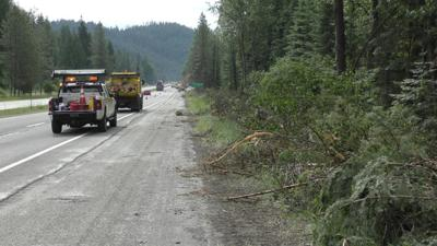 I-90 tree removal 4th of July Pass