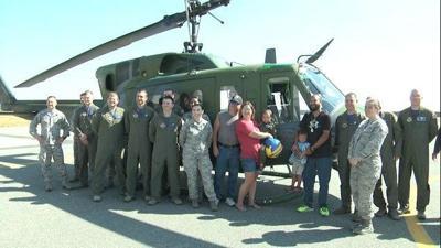 Fairchild AFB fulfills dream for boy battling cancer