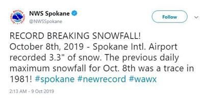 NWS Record Breaking Tweet