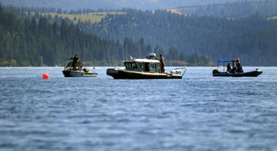 Lake Coeur d'Alene plane crash recovery efforts