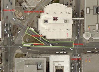 : Multiple streets downtown Spokane will be closed for repaving Monday through Friday