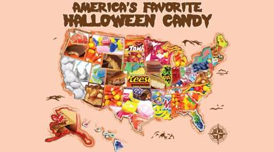 The most popular Halloween candy by state