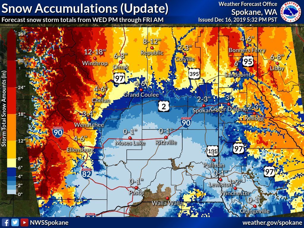 NWS Snow accumulations 12-18 to 12-10 2019