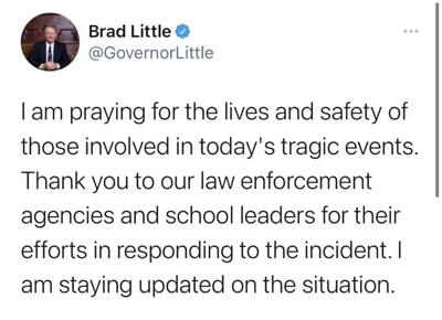 Brad Little responds to Eastern Idaho shooting