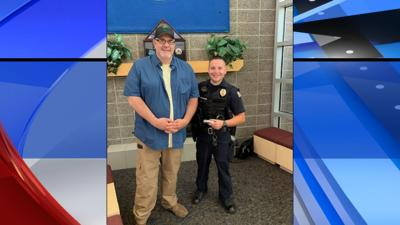 Man stops by Post Falls Police Department to thank officer who saved his life