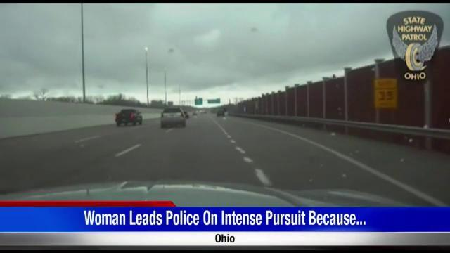 WATCH: Ohio woman leads police on intense high-speed chase because