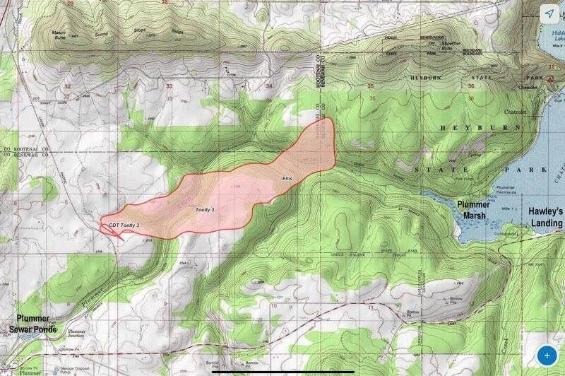 Totely Fire burning near Plummer burning 650 acres, 15% contained