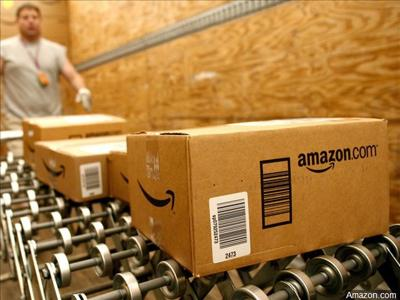 Amazon.com orders being loaded for delivery