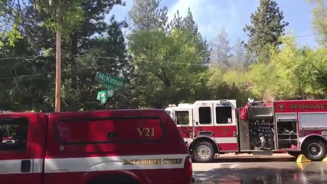 VIDEO: Firefighters on scene of 1-acre wildfire near S