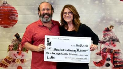 Louisiana couple finds winning $1.8 million Lottery ticket while cleaning