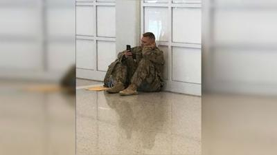 Soldier delayed at airport watches birth of daughter on FaceTime