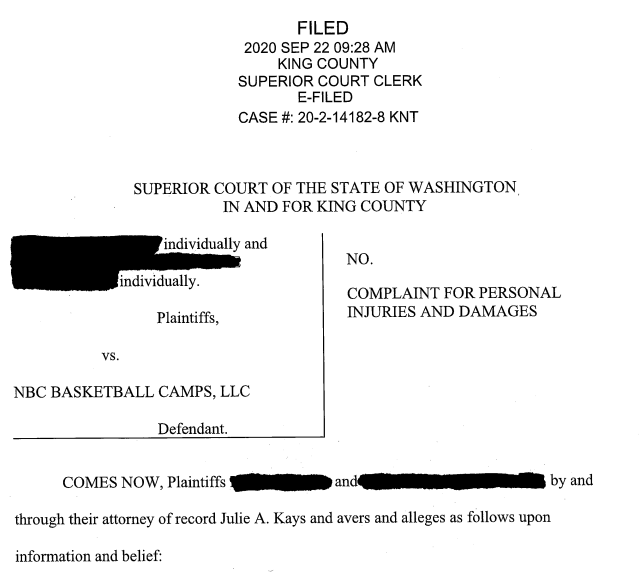 NBC Basketball Camps Lawsuit