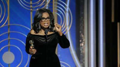 Oprah Winfrey says 'a new day is on the horizon' in powerful Globes speech