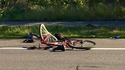 Cyclist hospitalized in crash with Spokane Police vehicle