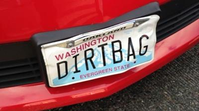 Man with 'DIRTBAG' vanity license plate arrested at car wash