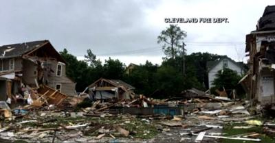 Woman killed, man severely injured following house explosion in East Cleveland