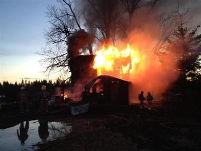 FIRST ON KHQ: Fire Destroys Home Near Tyler