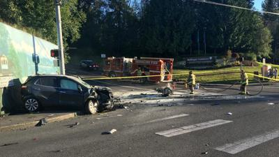 2 killed in motorcycle, vehicle crash in Shoreline