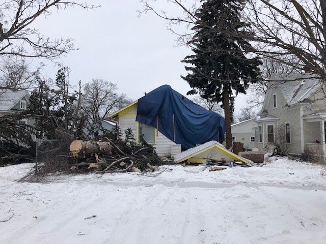 High winds cause massive pine tree to fall on Missoula home
