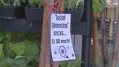 Company pokes fun and 'sells' social distancing sticks