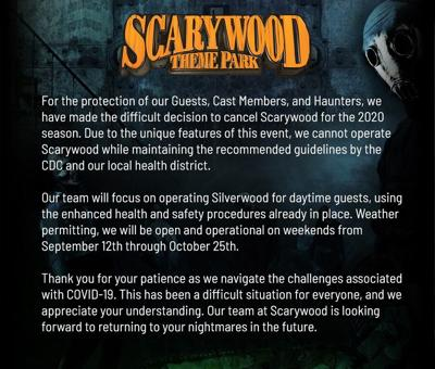 Scarywoods cancels 2020 season due to COVID-19