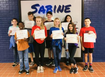 Sabine Middle School announces students of the month